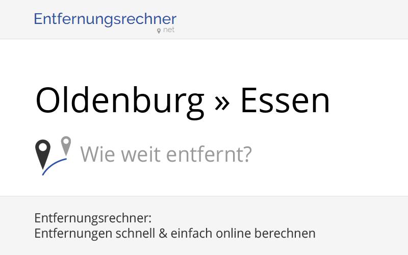 Entfernung Oldenburg