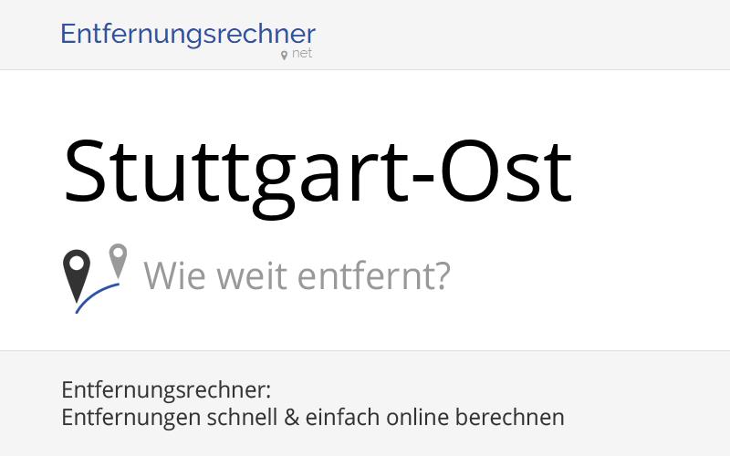 Entfernung Stuttgart Frankfurt