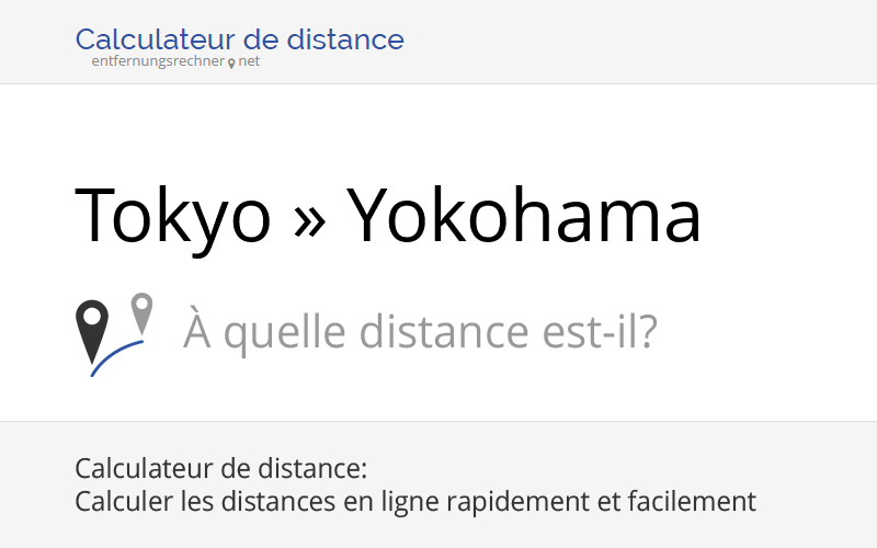 tokyo yokohama japon loignement distance trajet kilom tres. Black Bedroom Furniture Sets. Home Design Ideas